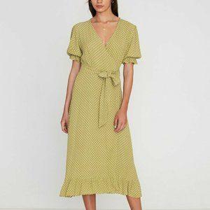 Faithfull The Brand  Olive Green Belmond Dot Dress